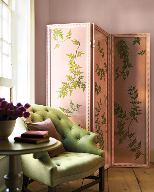 Jasmine-Vine Folding Screen