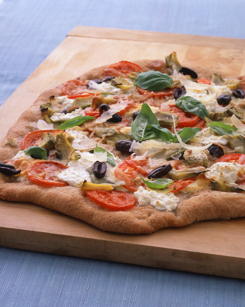 Whole-Wheat Pizza with Artichokes