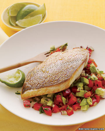 Snapper with Bell Pepper Salsa