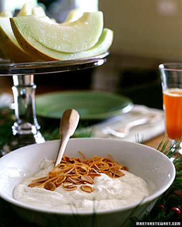 Orange Yogurt with Almonds