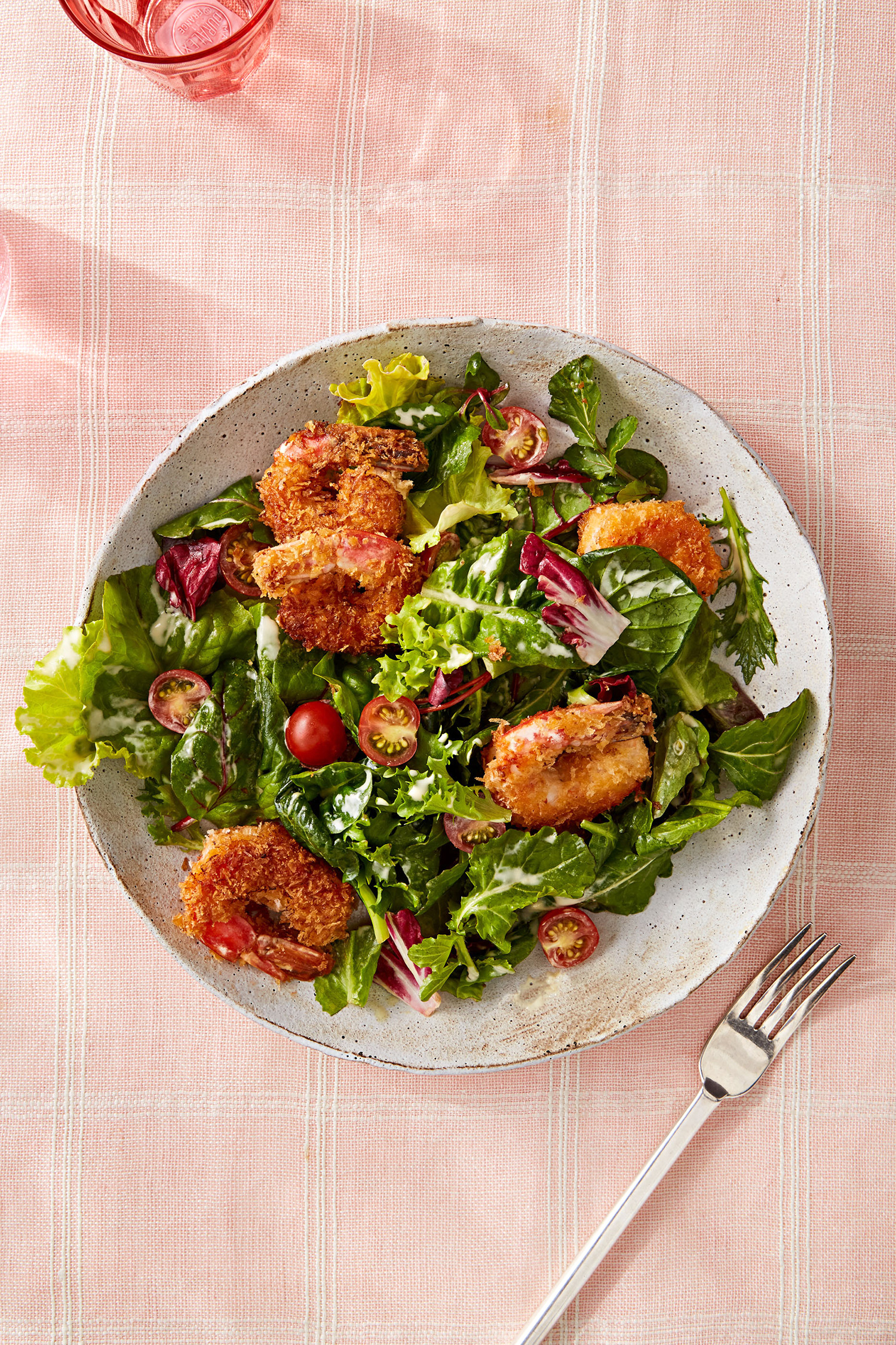 Crispy Panko Shrimp Salad