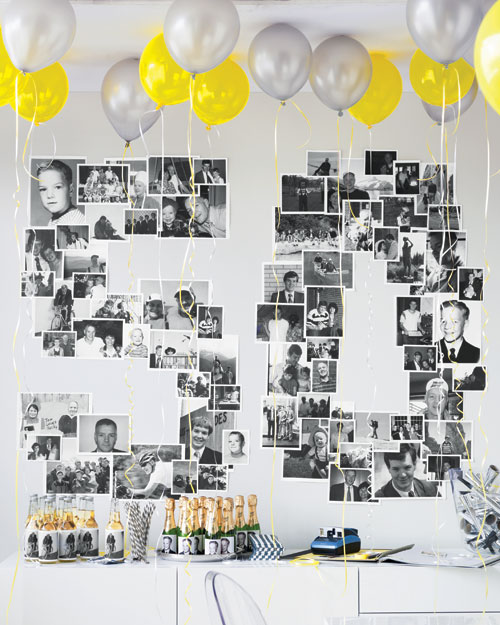 Photo Wall and Personalized Bottles