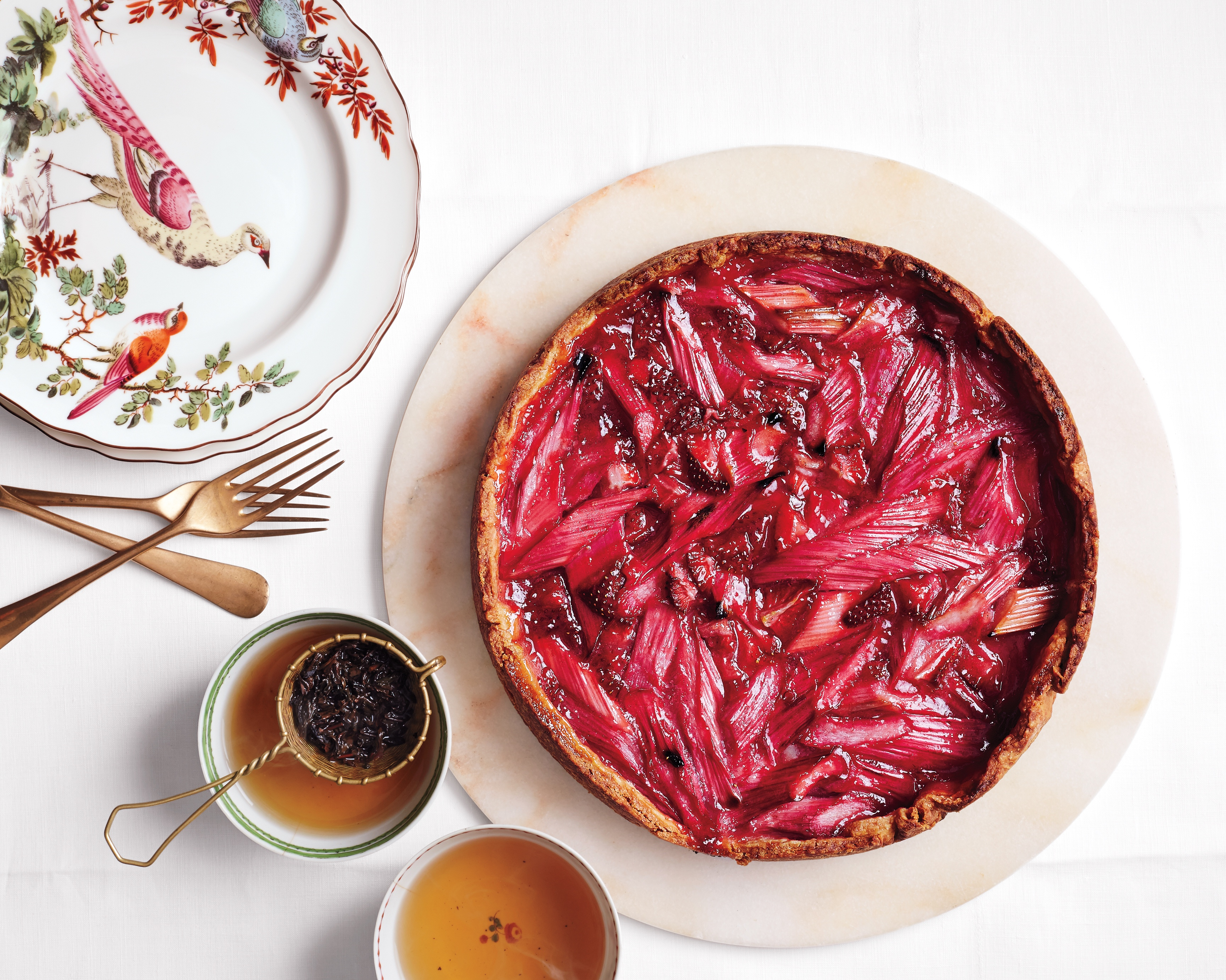 strawberry-rhubarb tart