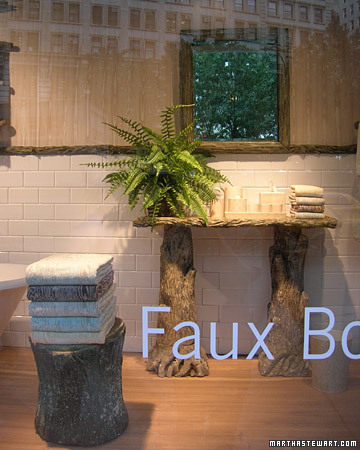 Faux Bois Bathroom