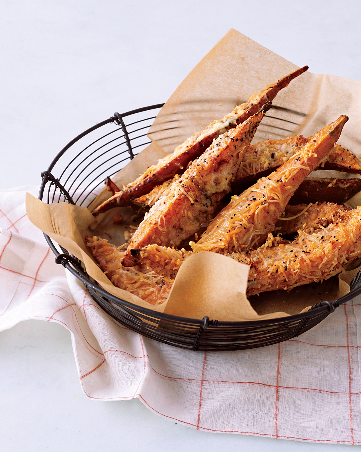 Parmesan-Coated Sweet Potato Fries