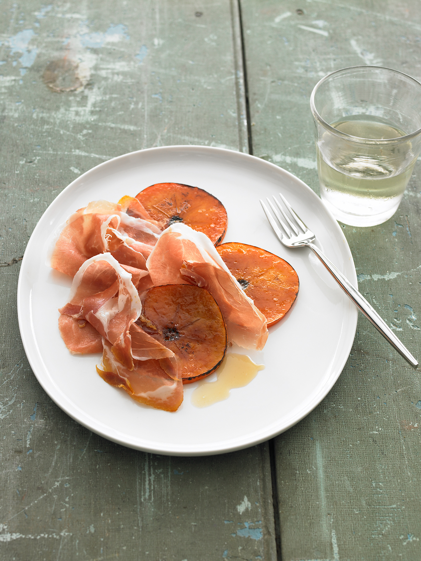 Caramelized Persimmons with Prosciutto