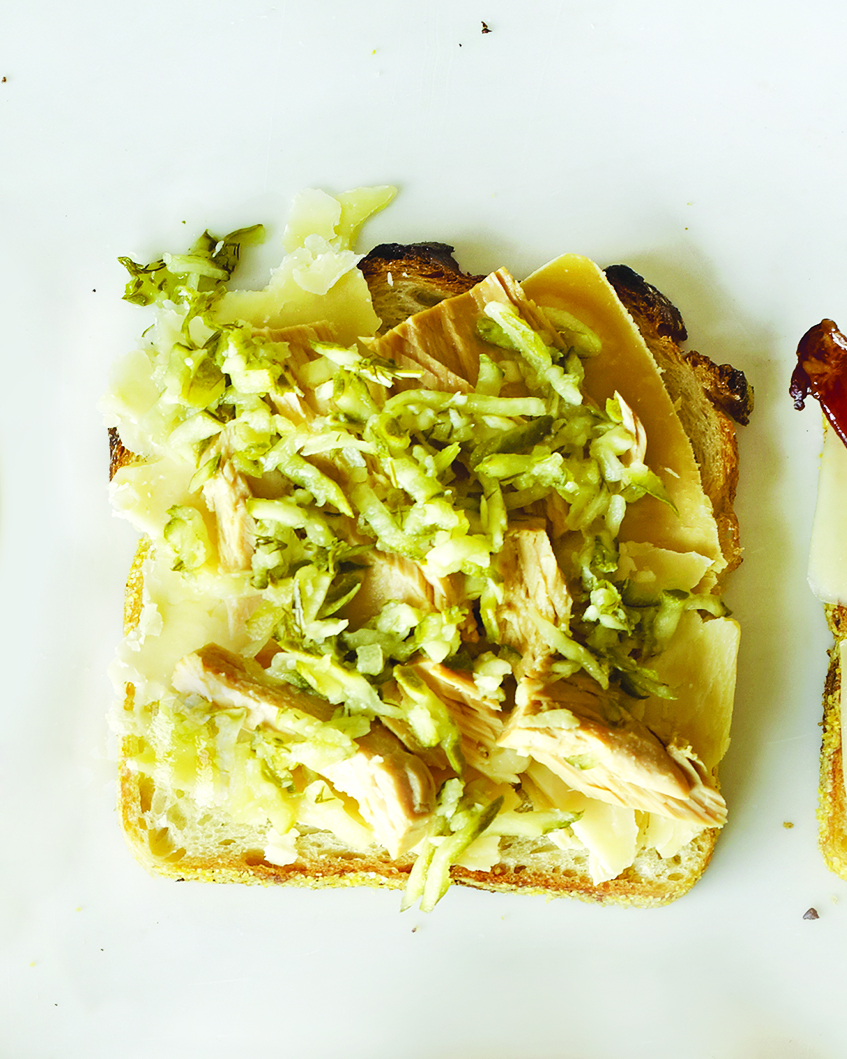 Fontina, Oil-Packed Tuna, and Relish on White