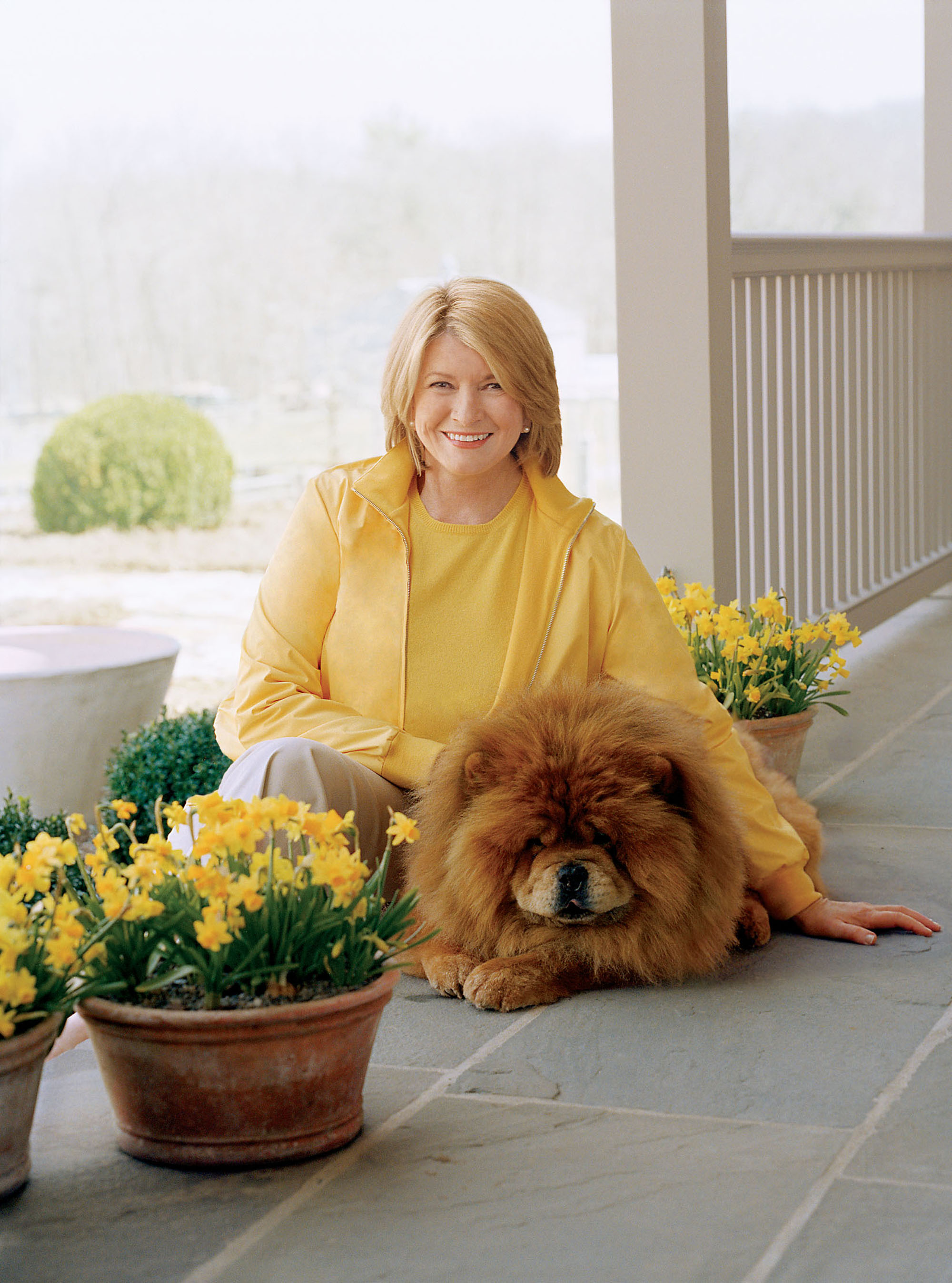 martha with her chow chow
