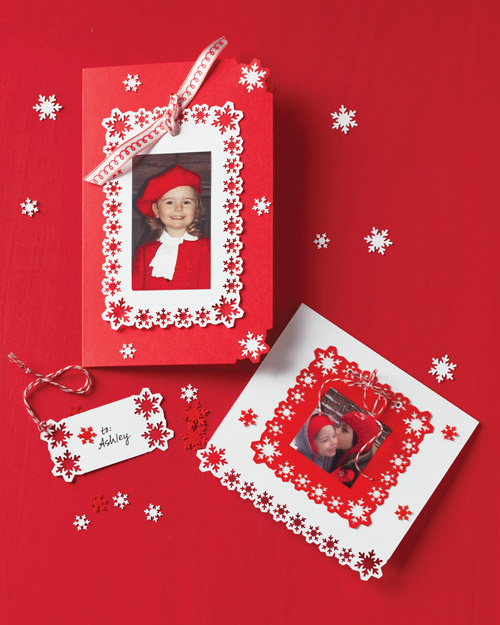 Punched-Snowflake Photo Cards and Gift Tags