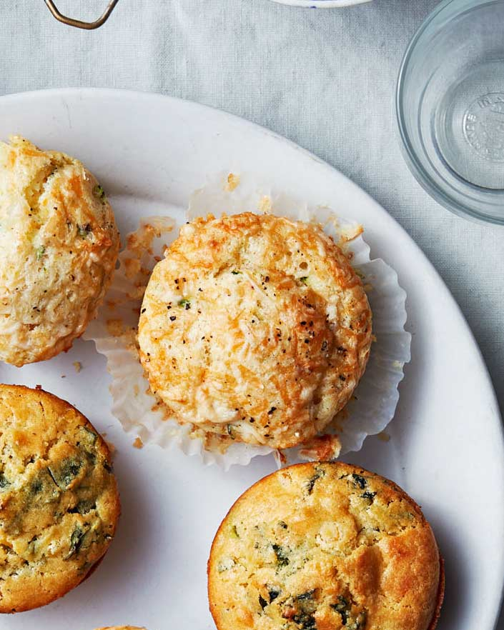 Zucchini, Gruyere, and Black Pepper Muffins