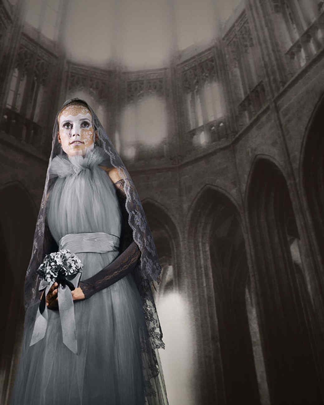 gray lady ghost costume for Halloween