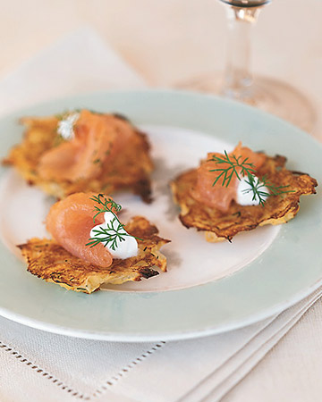 Potato Pancakes with Gravlax and Dill