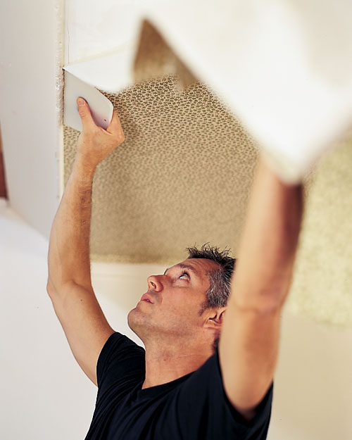 Papering a Ceiling