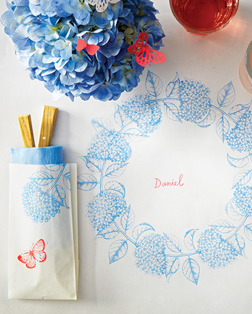 Stamped-Paper Tablecloth
