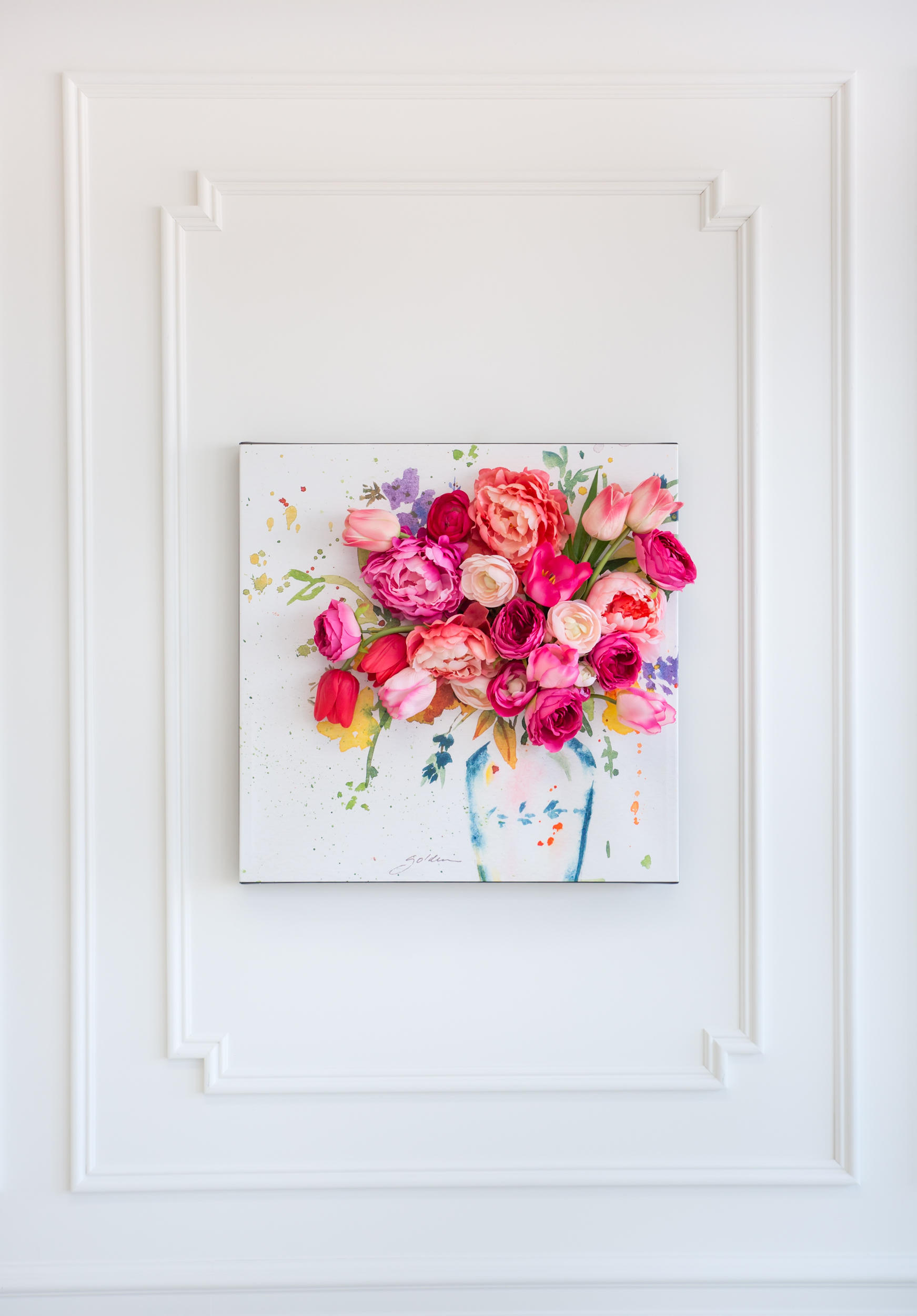 3-D Floral Canvas Wall Art