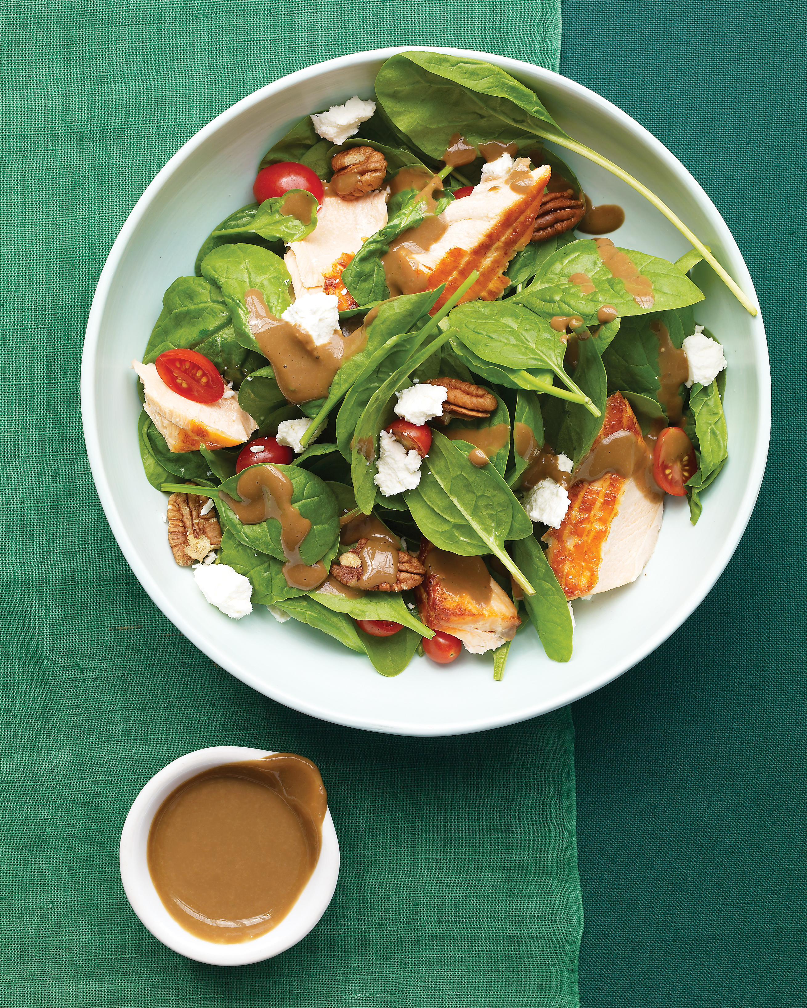 Spinach Salad with Salmon