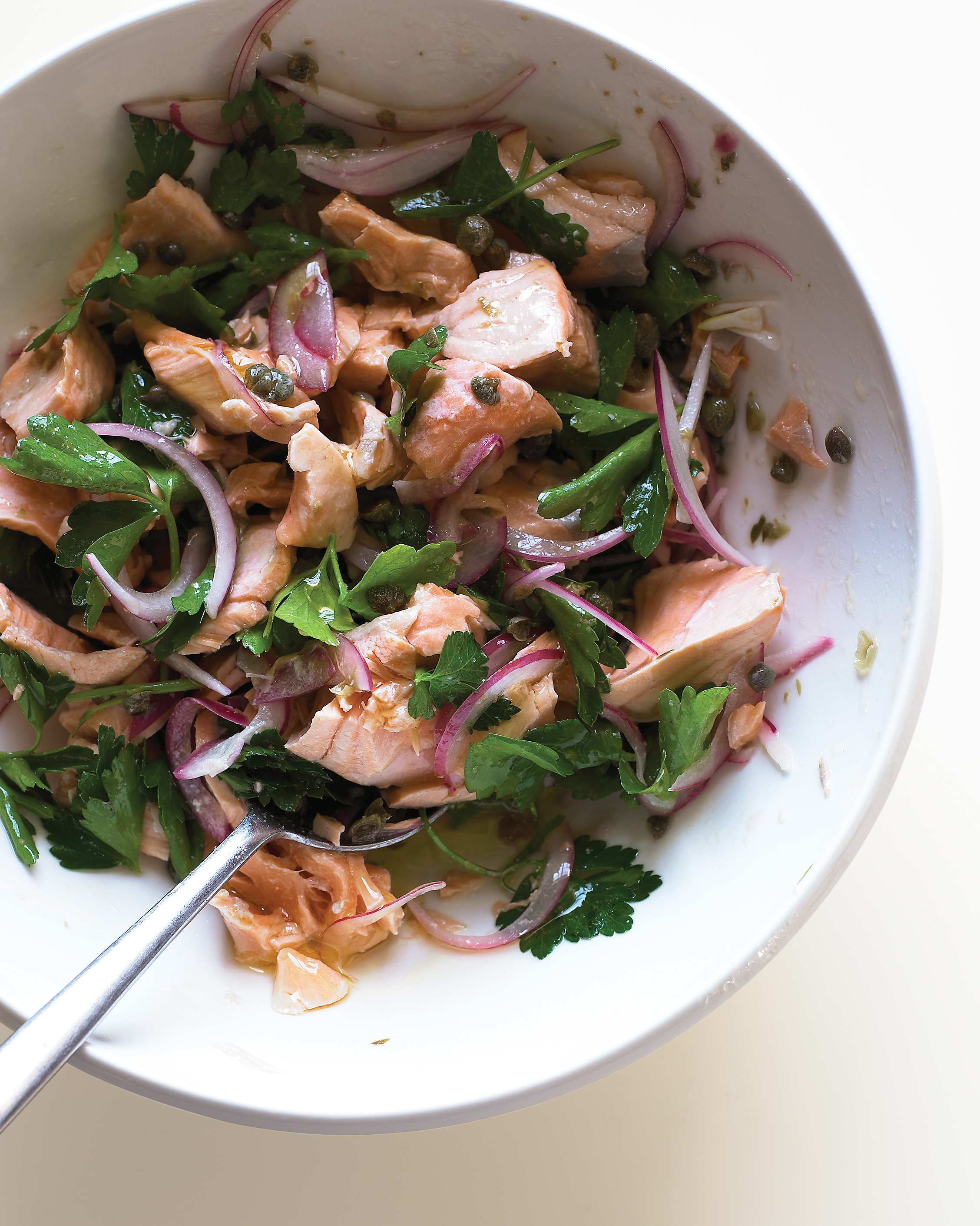 Salmon Salad with Parsley and Capers