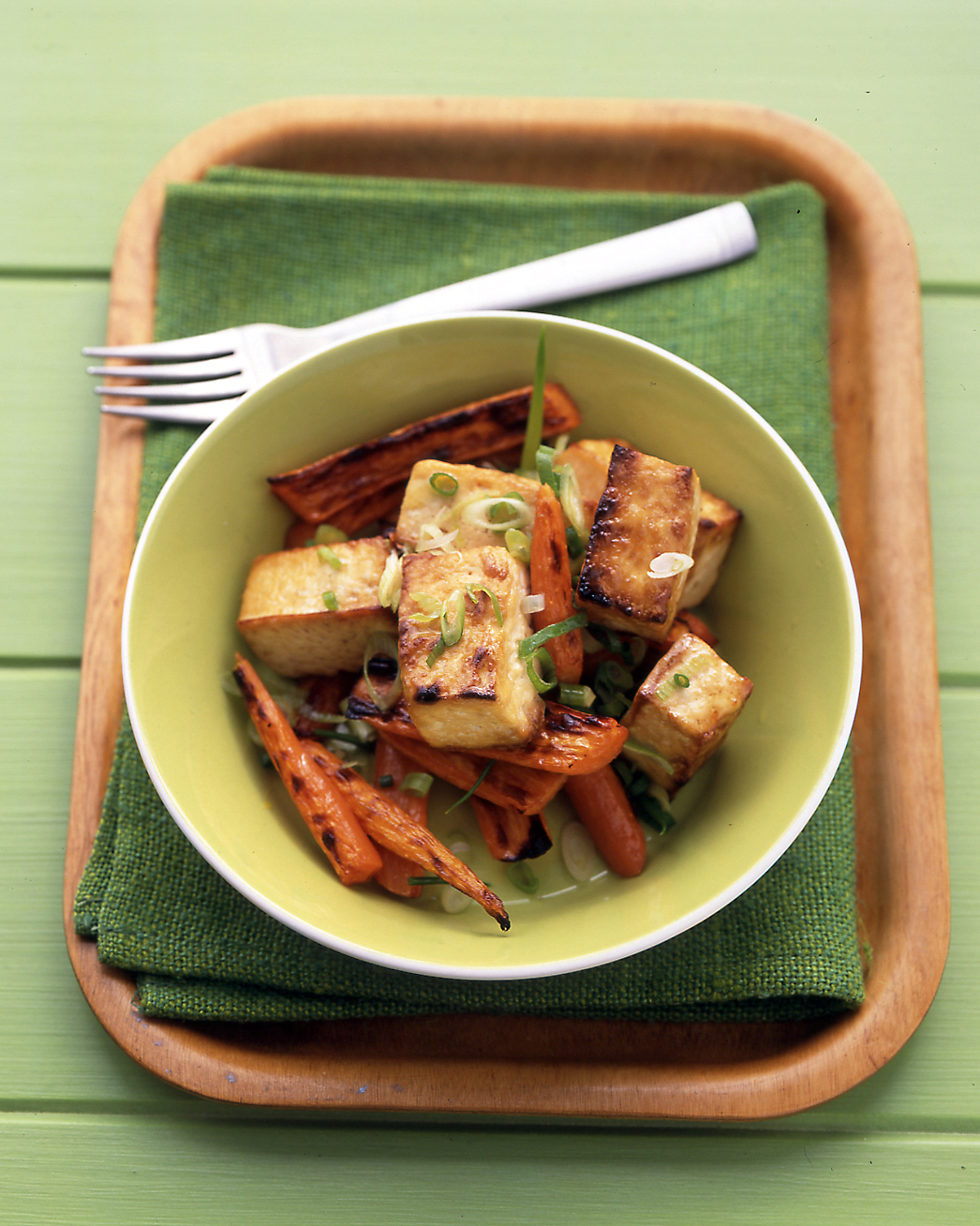 Soy-Glazed Tofu and Carrots