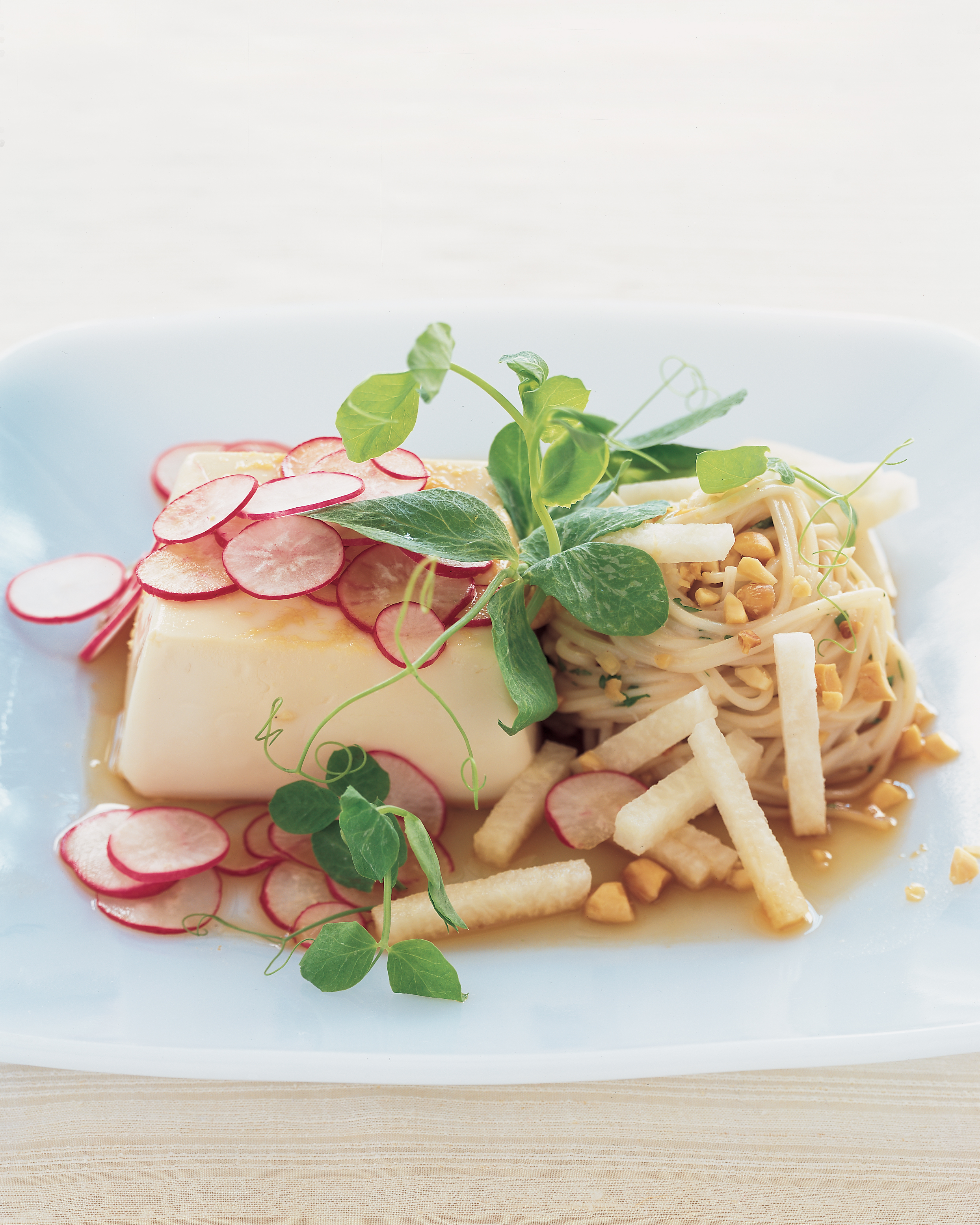 Marinated Tofu with Cold Peanut Noodles
