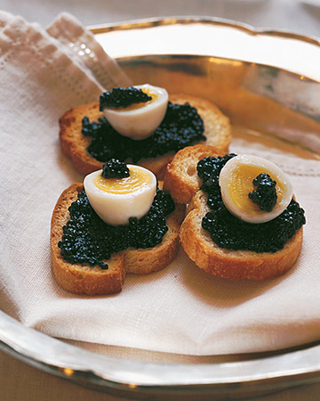 Quail Eggs with Caviar