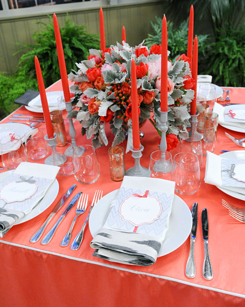 Red and Gray Centerpiece