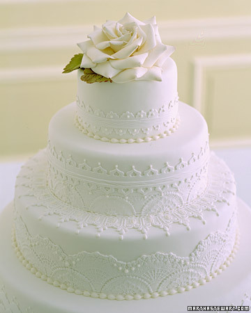 Delicate Lace-Inspired Cake