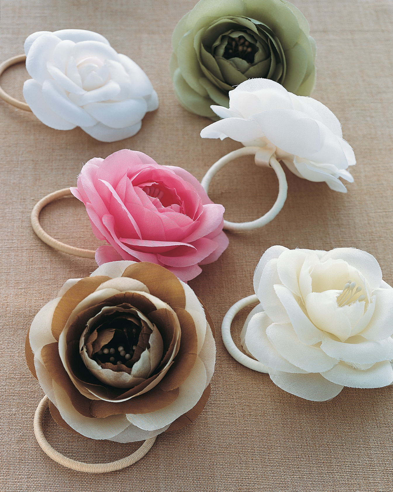 Silk Flower Hair Band or Corsage