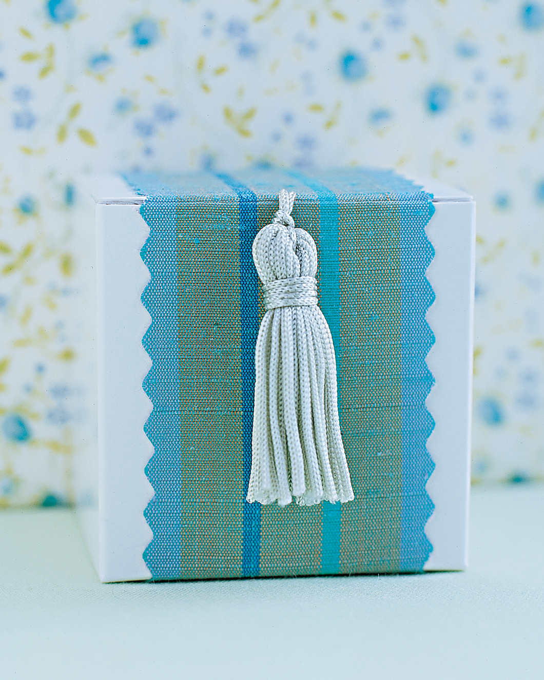 Tassel-Top Favor Box