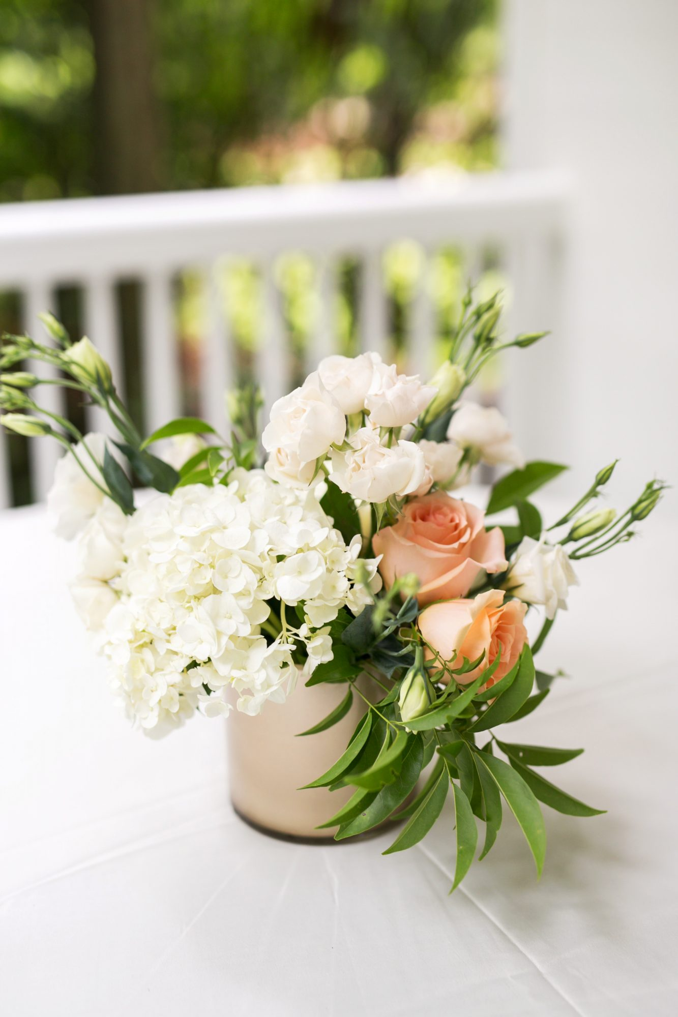 wedding centerpieces flowers greenery single can vase