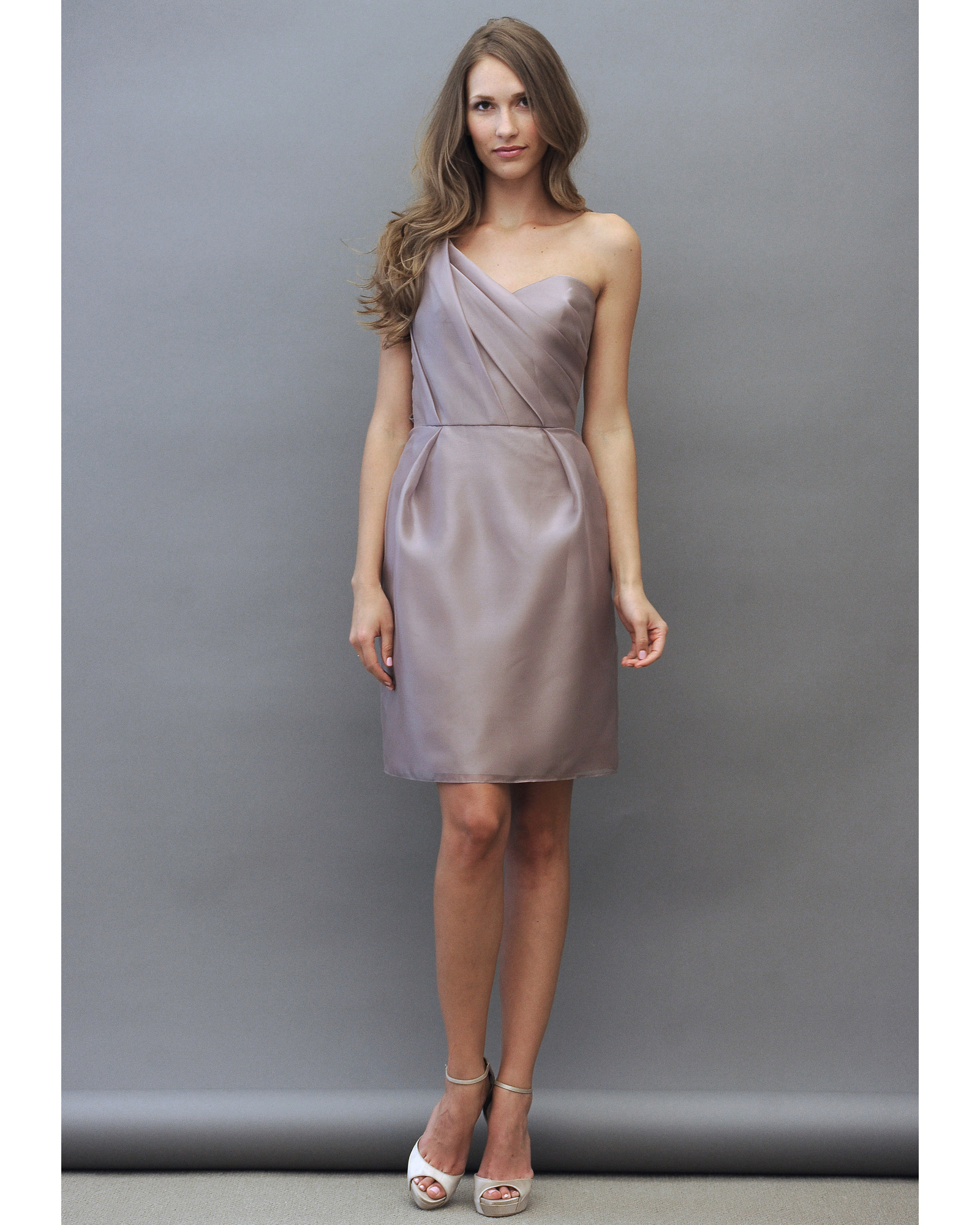 Light Purple One-Shoulder Bridesmaid Dress