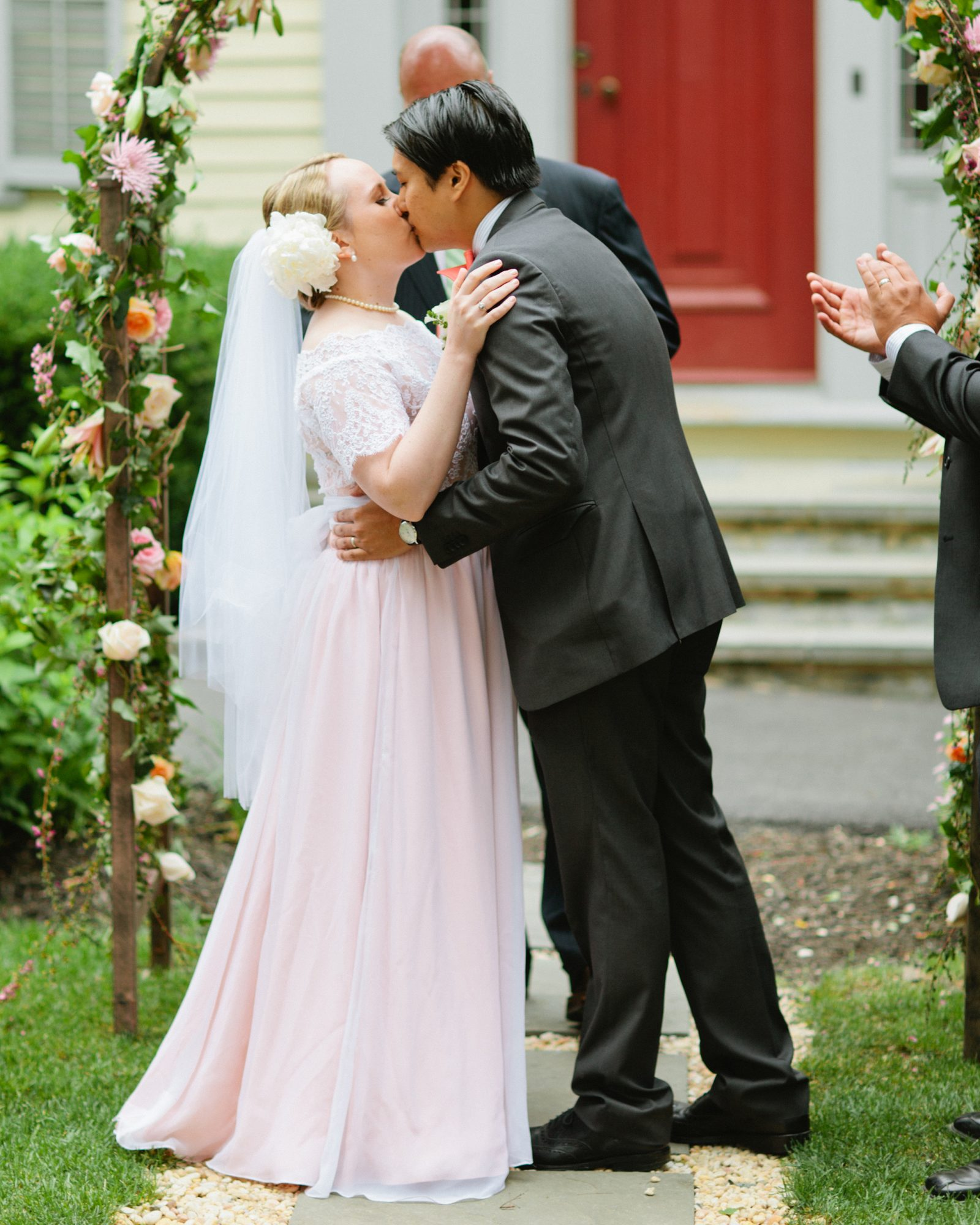 Homespun Pink Wedding Dress