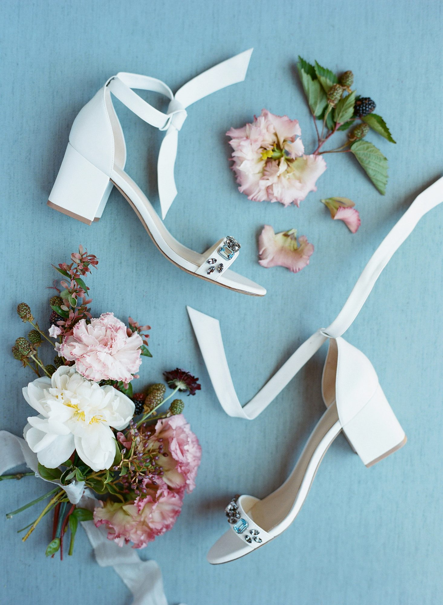 wedding shoes with flowers