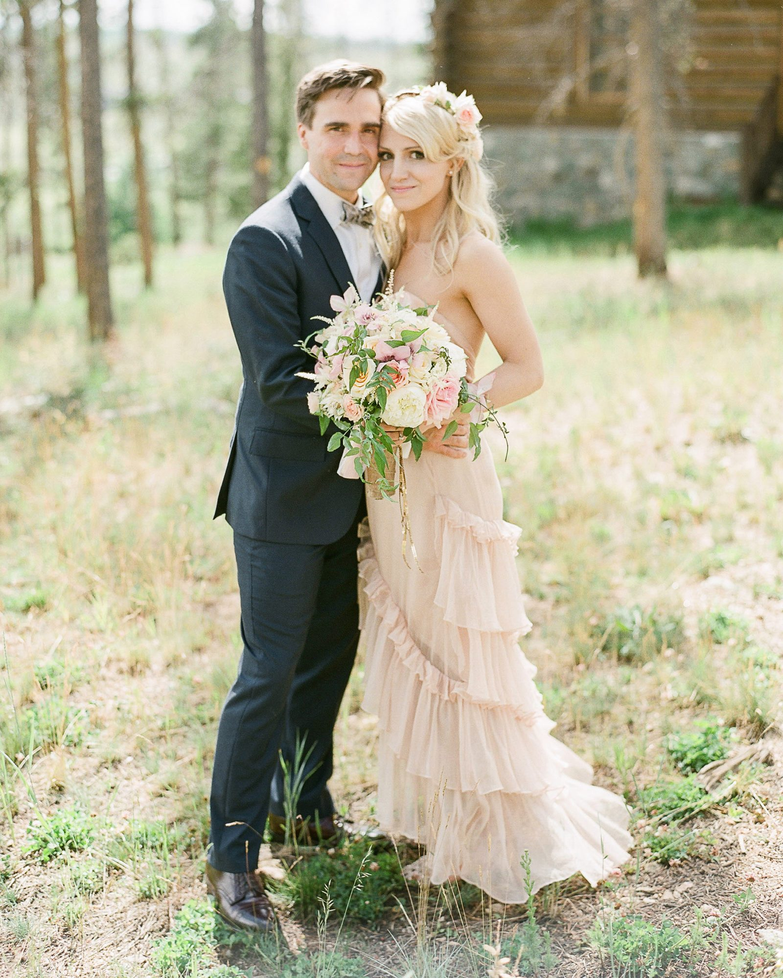 Customized Pink Wedding Dress