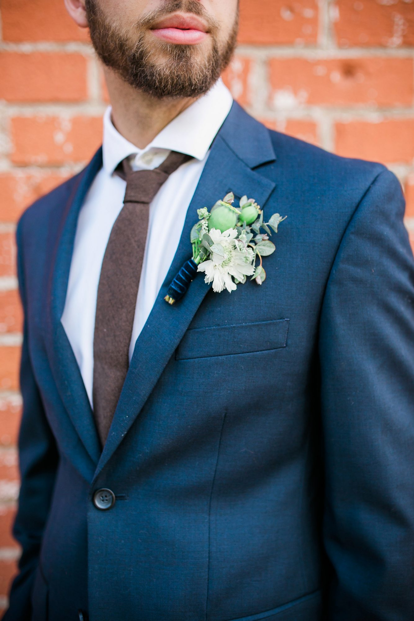white flower boutonniere