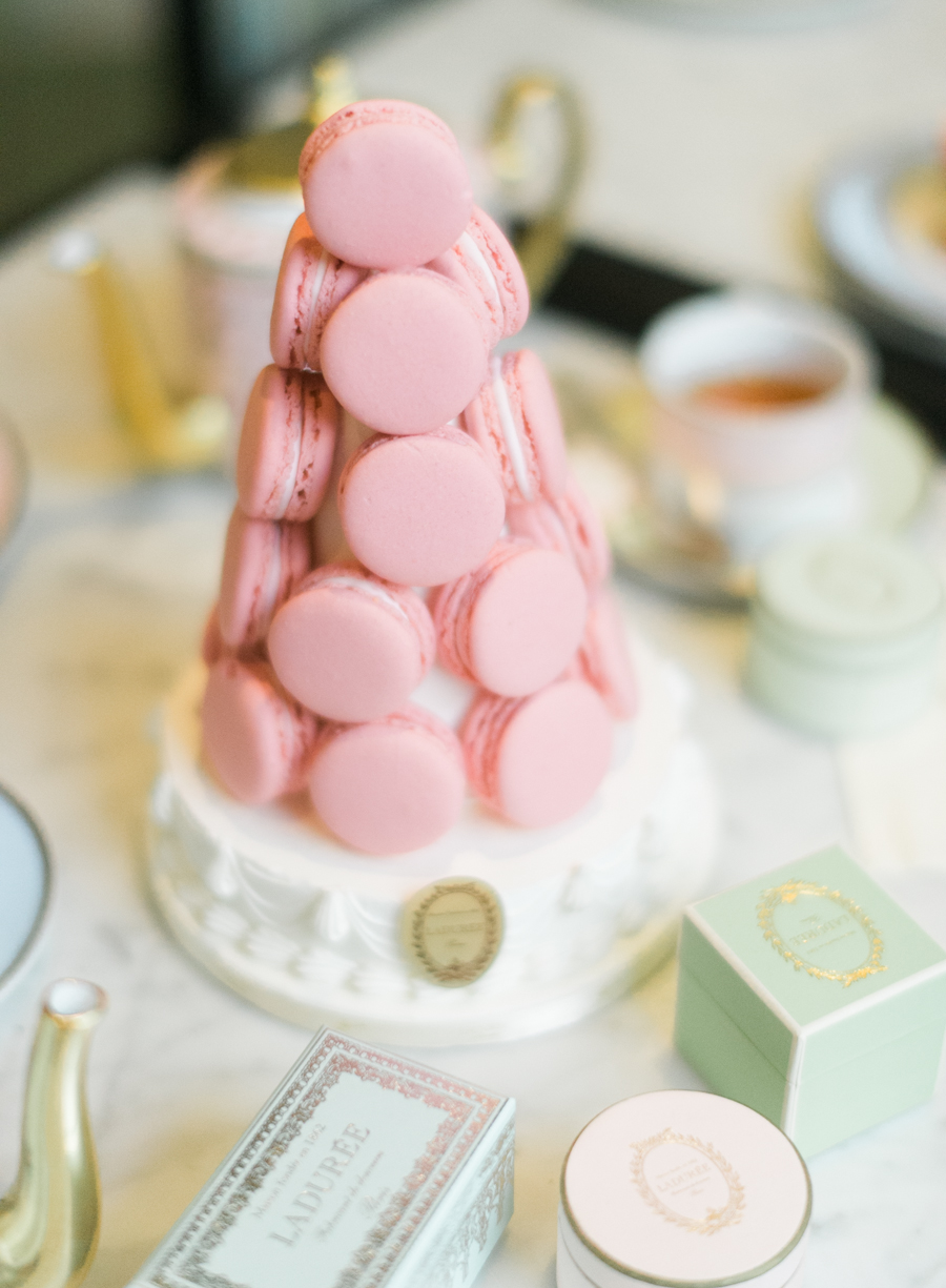 macaron tower for bridal shower tea party