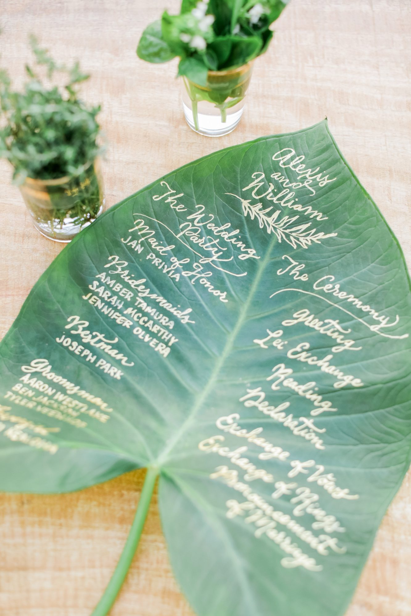 Ceremony Program Leaf