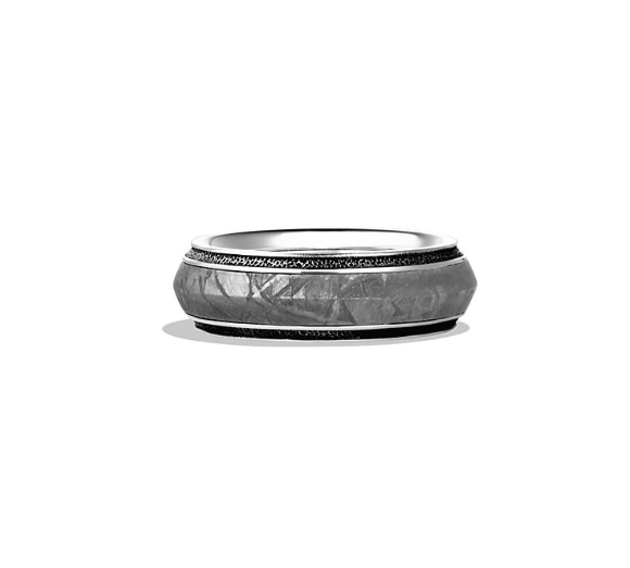 silver textured wedding band