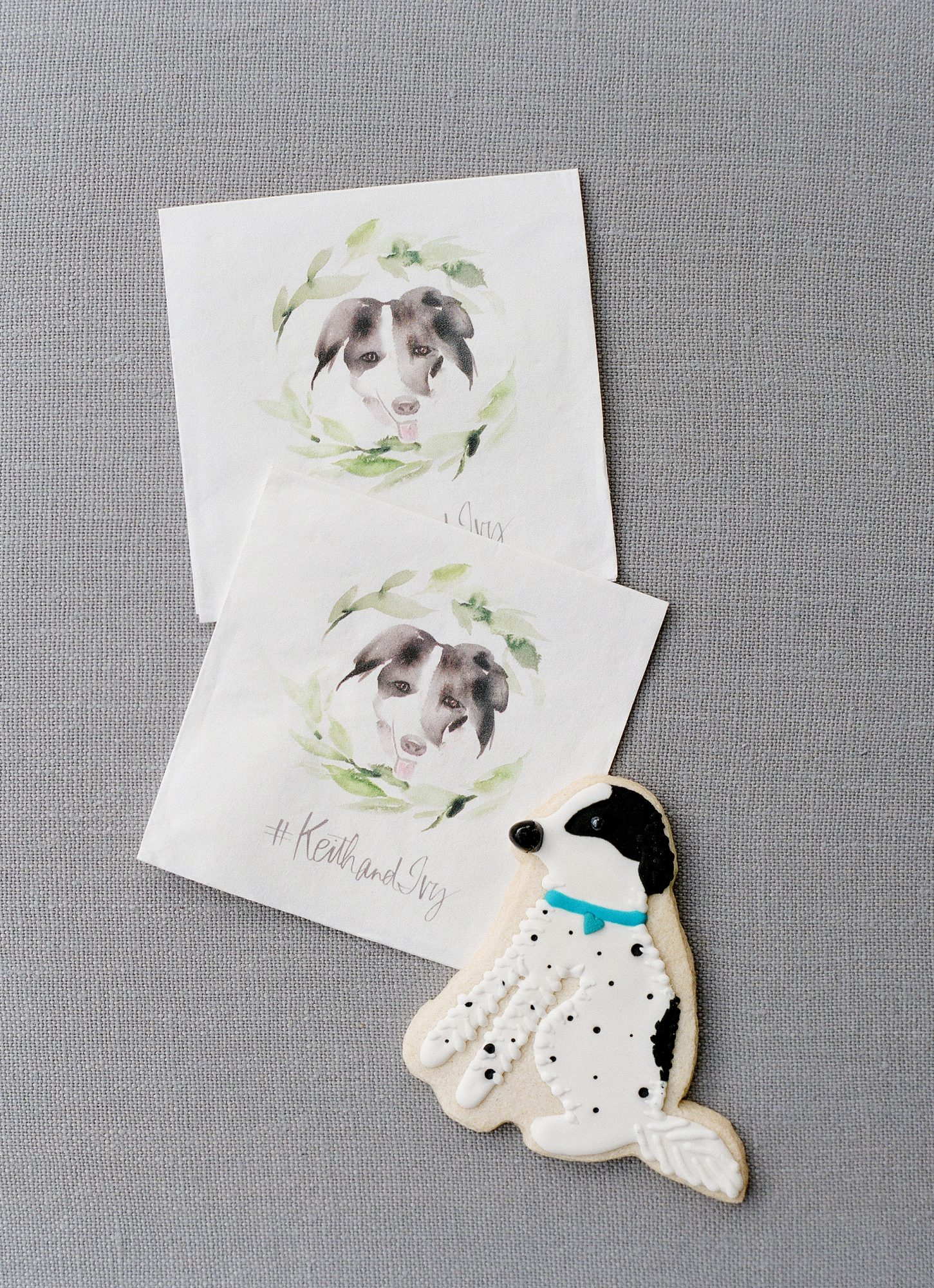 dog cookie wedding favors