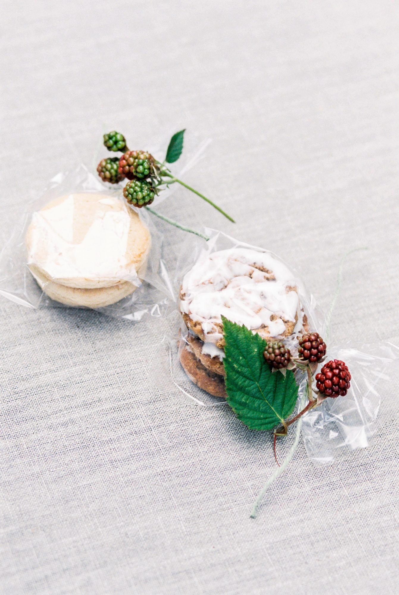 holly accented cookie wedding favors
