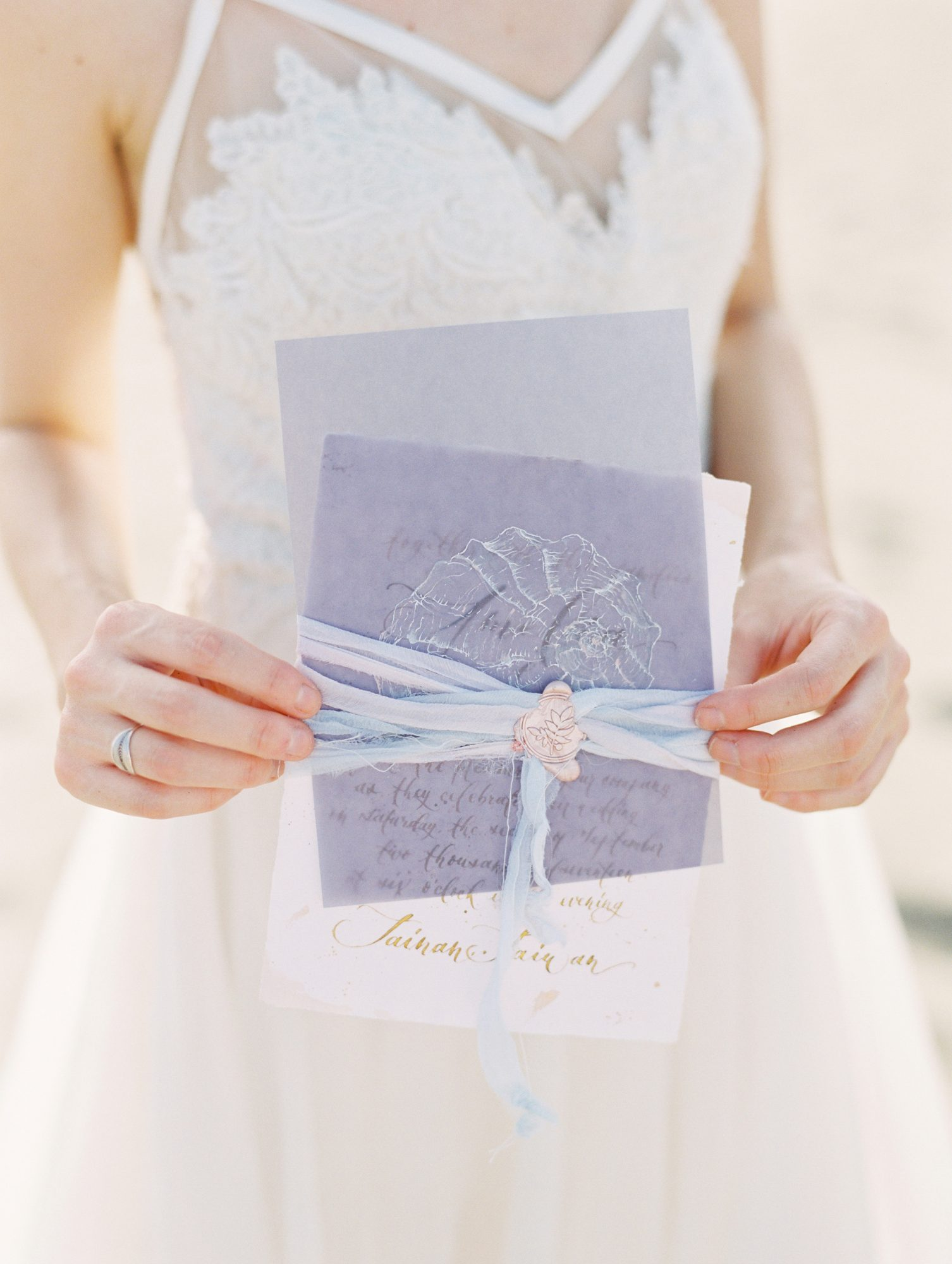save the date ribbon