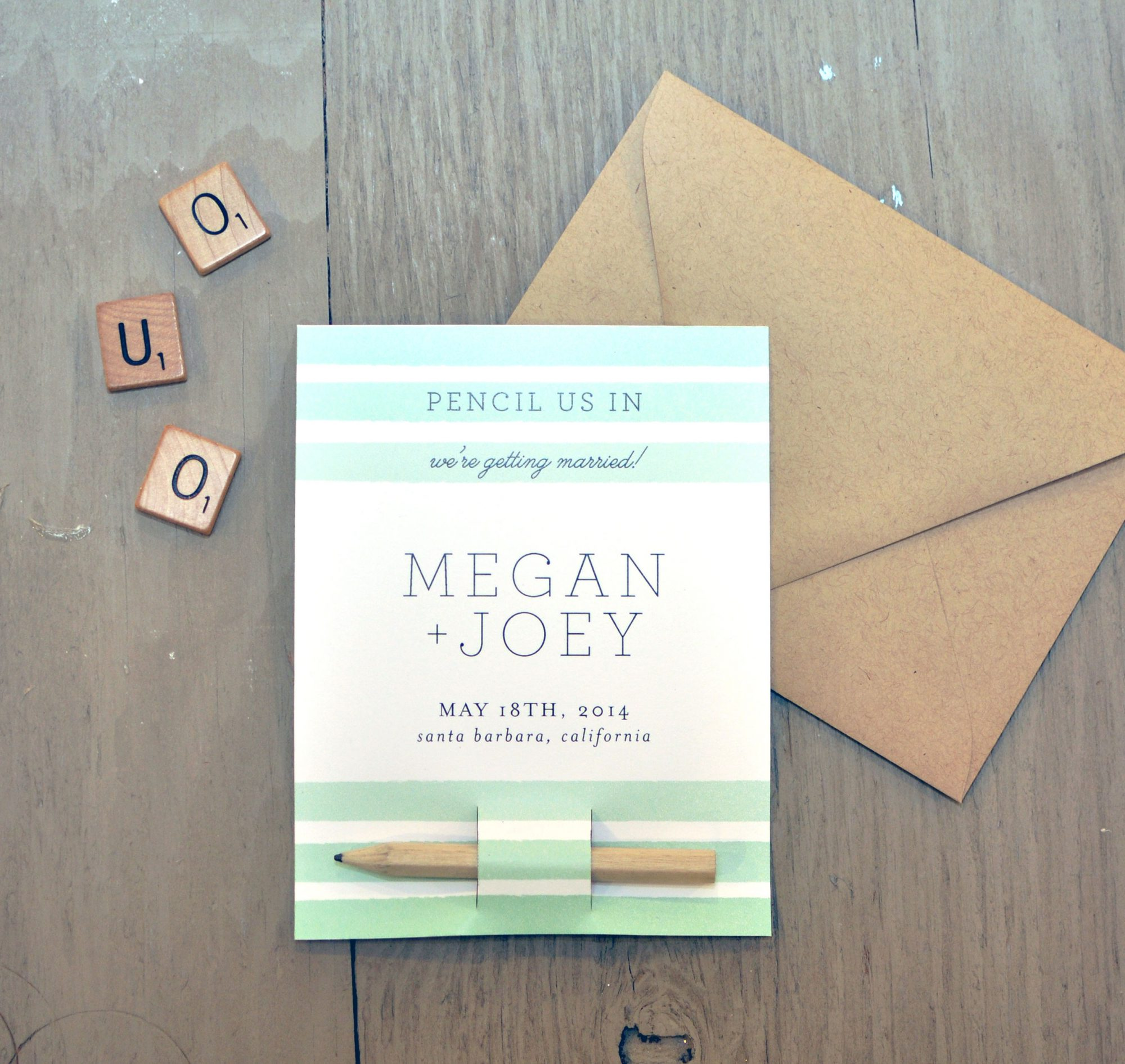 pencil save the dates