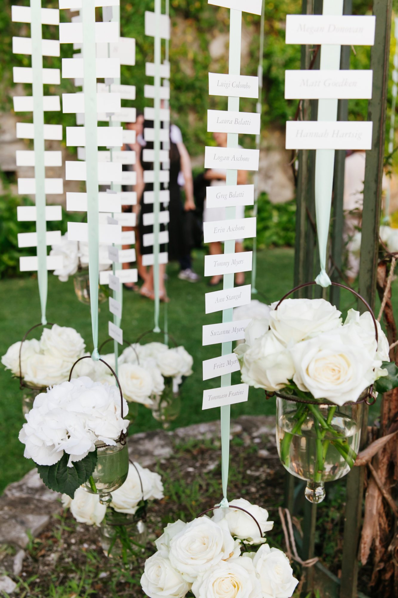 hanging flowers seating display