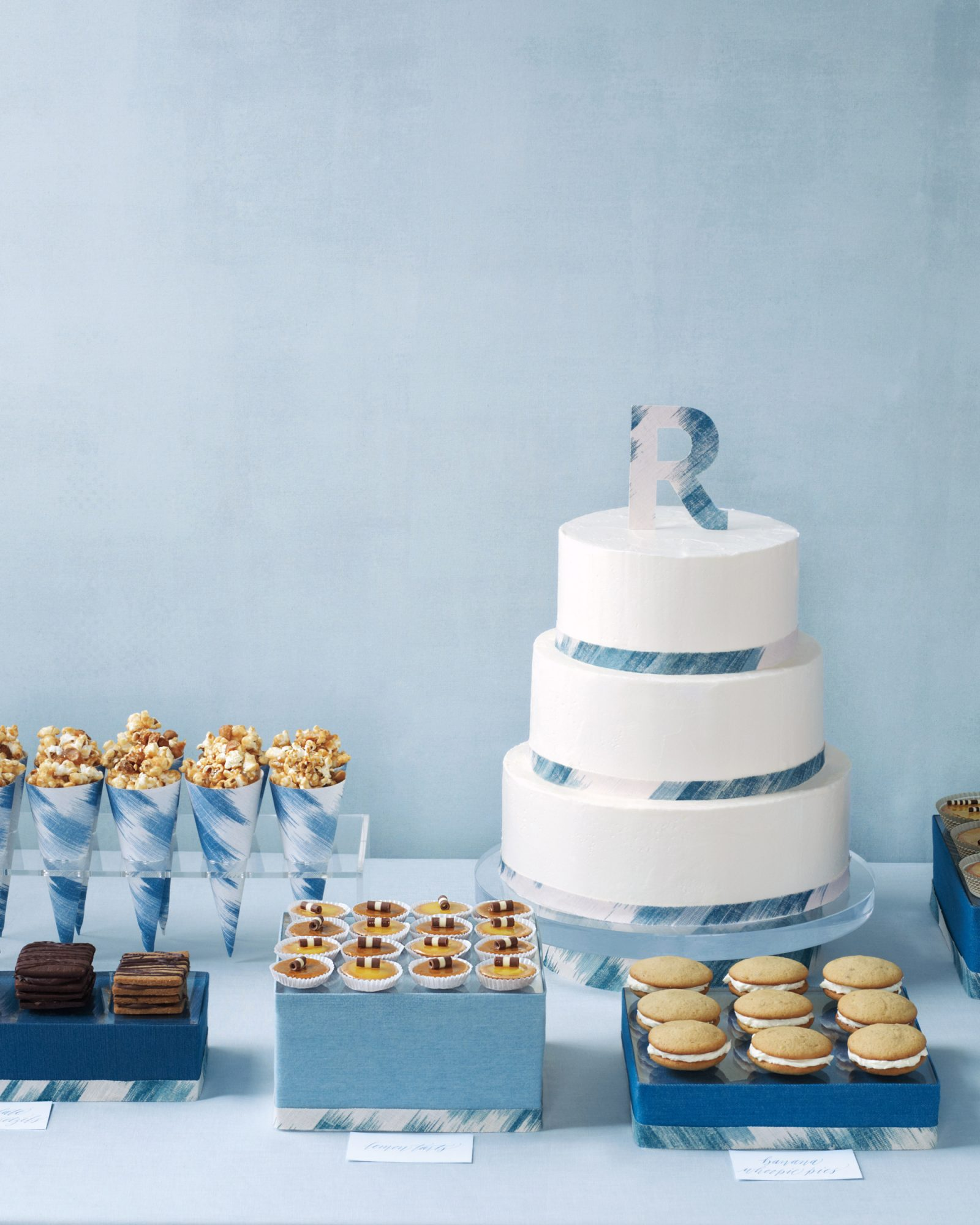 Blue Dessert Display