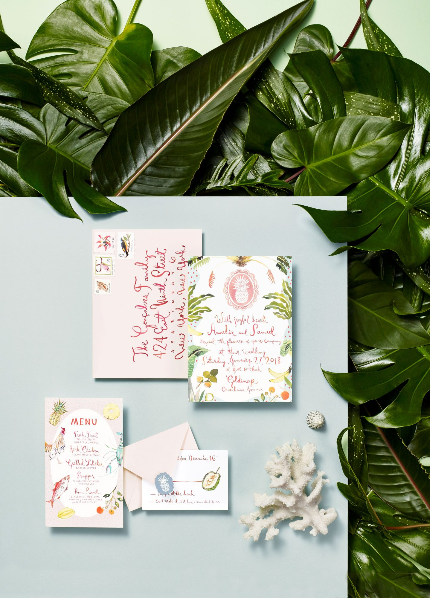 island-inspired stationery