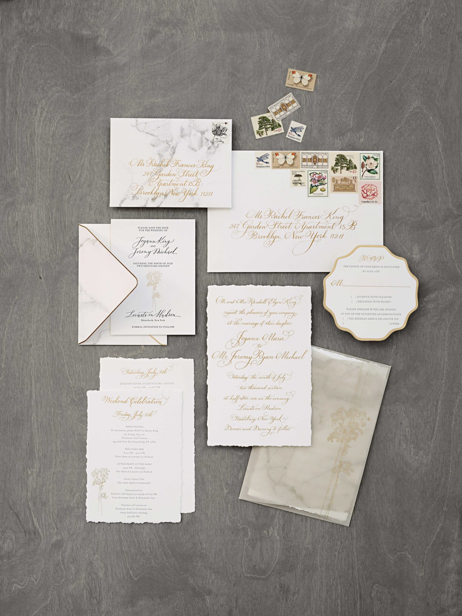 Marbled Invitations
