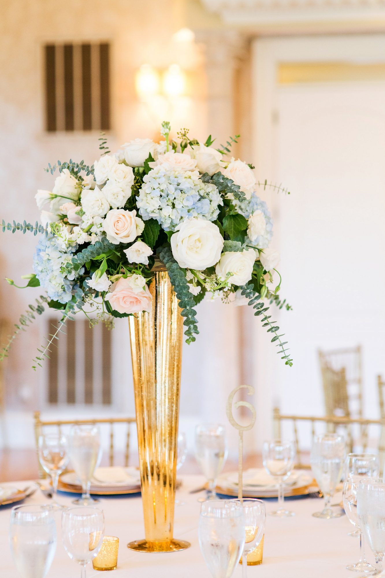 kenisha wendall wedding tall centerpieces