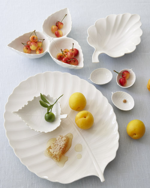 Martha Stewart Collection Whiteware Leaf Plates