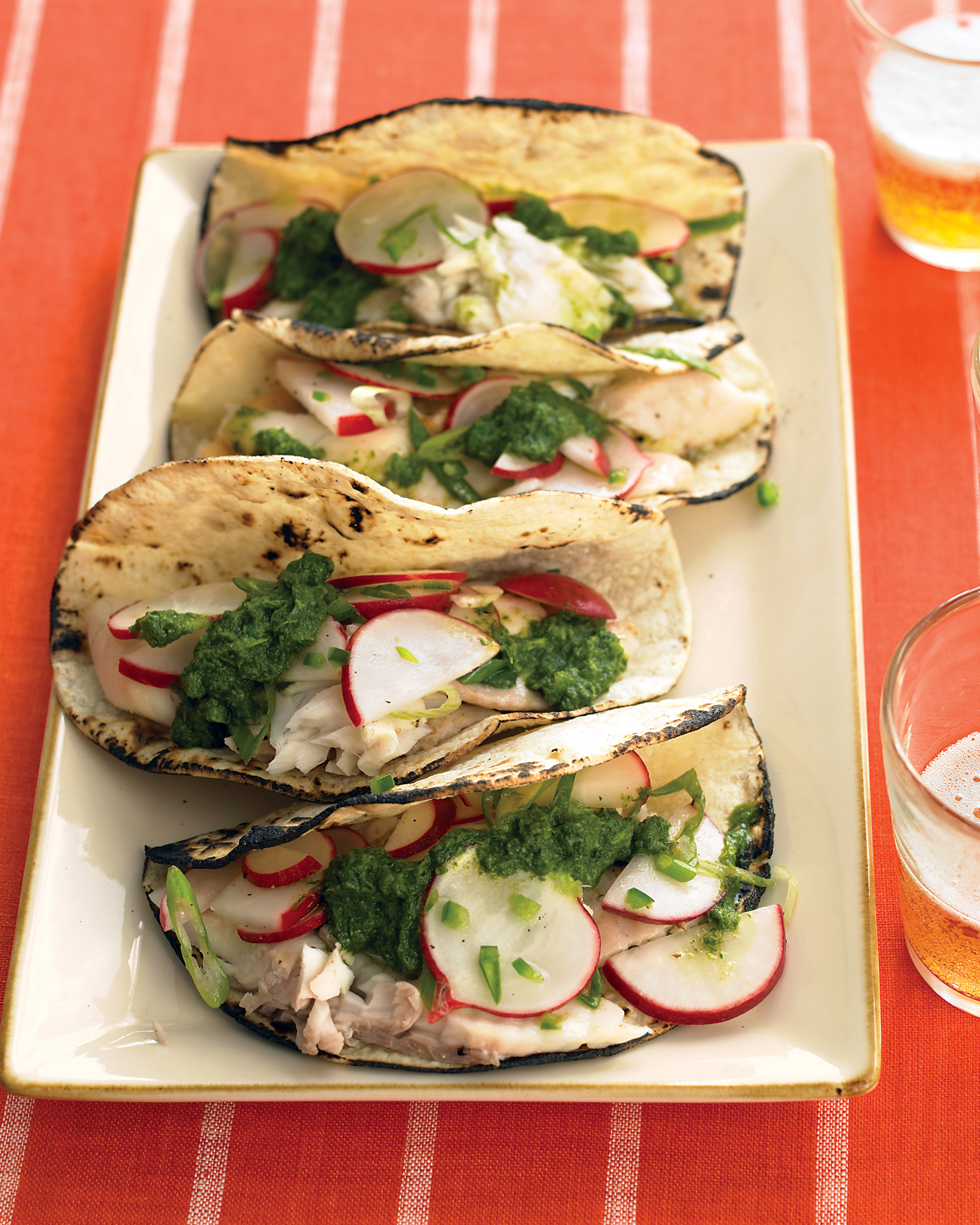 Fish Tacos with Salsa Verde