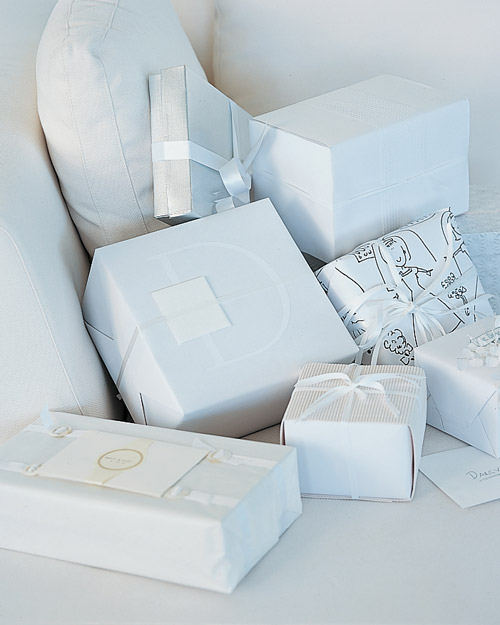 White-Wrapped Presents