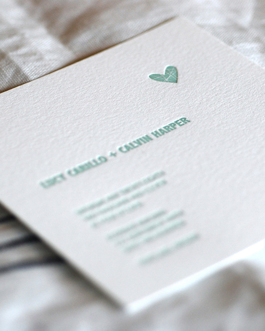 Special Details on the Wedding Invitation
